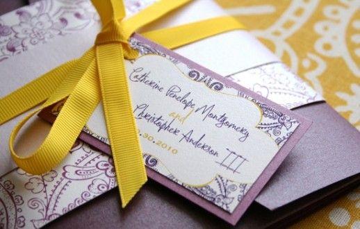Decoração de Casamento : Paleta de Cores Amarelo e Roxo