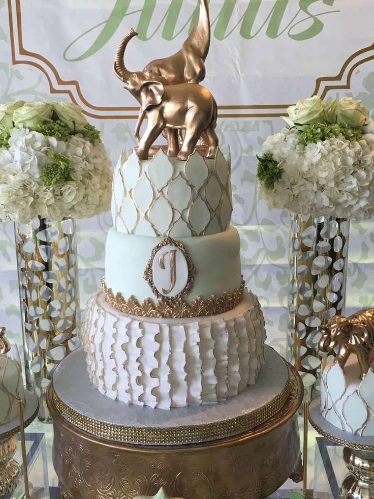 Glam Safary baby shower  | CatchMyParty.com
