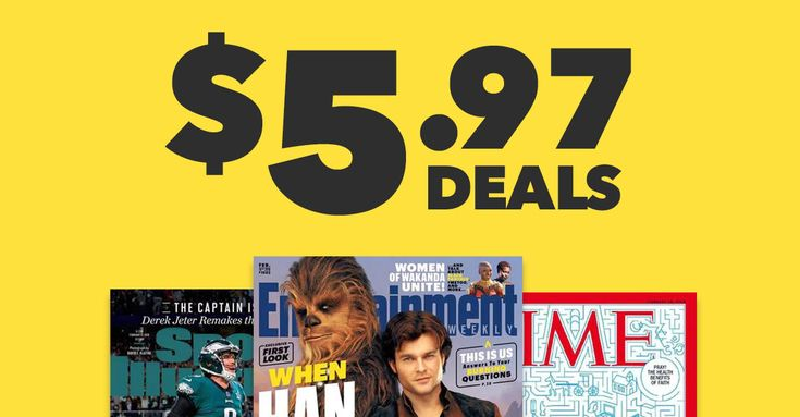 Get some of our top #magazine #subscriptions – including TIME, Sports Illustrated, and Cooking Light – for just $5.97! On #sale now!