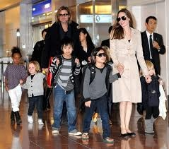 Brad Pitt, actor and film producer, and Angelina Jolie have 3 biological children and 3 adopted children, making a beautiful family of 6. He is often seen actively involved with all 6 children. Brad is very involved in humanitarian and political projects nationally and internationally. He has donated much of his money and hands-on re-building in New Orleans, LA, after the tragedy of Hurricane Katrina. Brad and Angelina have said that their children have been requesting that they get married.