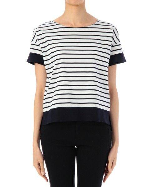 Reflect(リフレクト)の切替えボーダープルオーバー(Tシャツ/カットソー)|ブルー