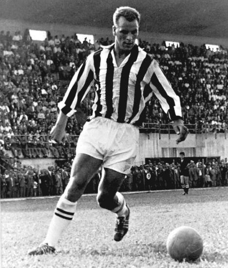 John Charles, 1931-2004. Welshman who played centre-forward and centre-back [equally well, it was said] for Leeds United, Juventus and Wales. As the first foreign player brought into Italian football, he was Serie A's top scorer in his first season. He was never cautioned or sent off in his professional career.