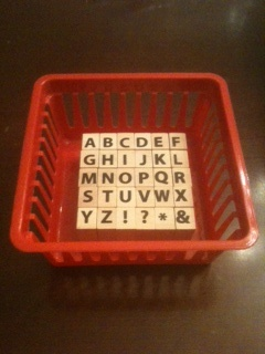stamp words into play-doh for word work time