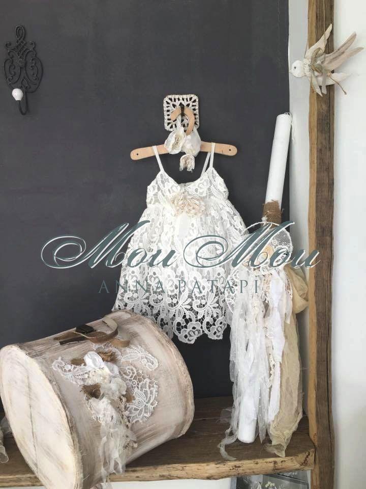 Σετ βάπτισης για κορίτσι. Baptism set for girl. #annapatapi #moumou2017 #vintage #romantic #Moumounewcollection #specialoccasions #childrenswear #Official #Nursery #outfit #wedding #dress #romanticweddingdress #επίσημο #παιδικό #ρούχο #γάμος #νυφικό #αγόρι #κορίτσι #boy #girl #baby #βάπτιση #βαπτιστικά #ρομαντικό #φόρεμα