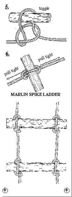 Faire un escalier en corde avec des marches en bois!