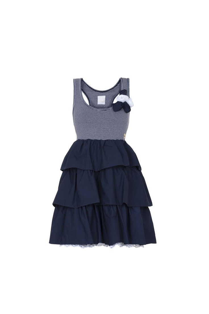 Maison Espin dress ss13, #maisonespin #springsummercollection13 #womancollection #dress #lovely #MadewithLove #romanticstyle #milano #navy