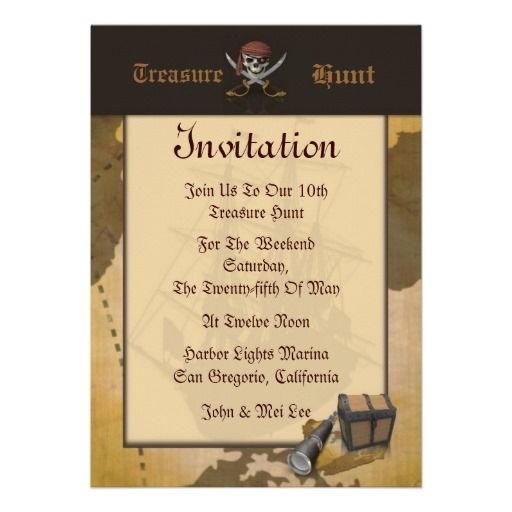 Treasure Hunt Invitation Zazzle Com Treasure Map Invitation