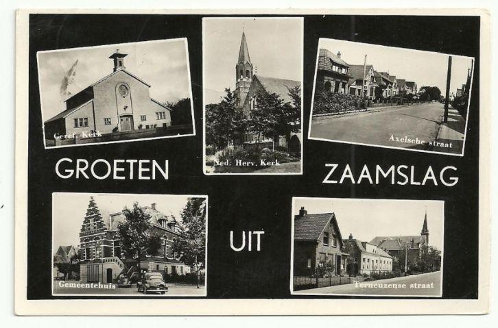 Groeten uit Zaamslag.  1954