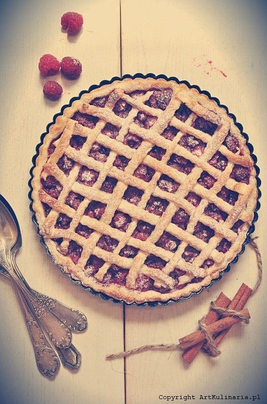 Tort malinowy, czyli... tarta z malinami z roku 1686   Raspberry tart. 17-th Century recipe