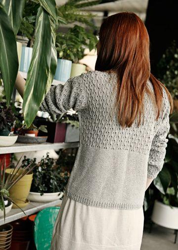 Lace Cardigan Knitting Pattern - Easy Lace Sweater Pattern - Cerisara - Downloadable Knitting Patterns - Chic Knits Knitting Patterns