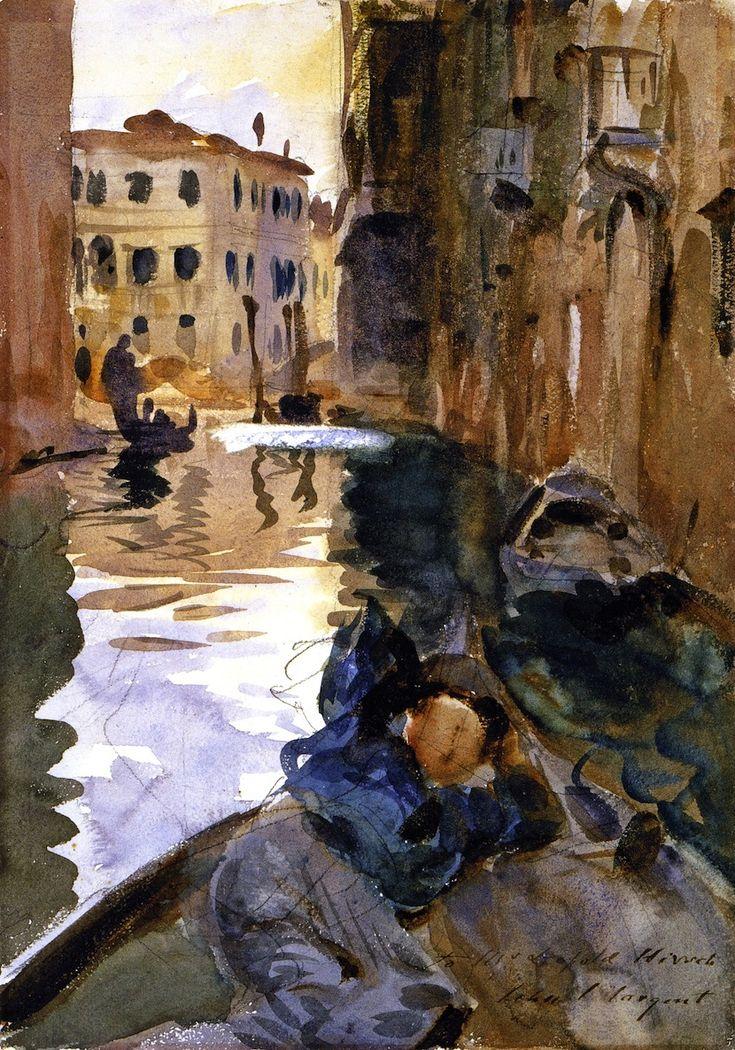 The Athenaeum - Gondolier Resting (John Singer Sargent - ) 1902-1904