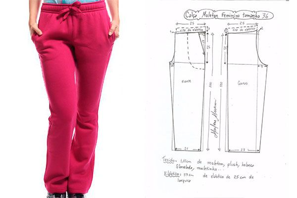Moldes para hacer pants deportivos para dama. En la actualidad podemos ver que los pants deportivos para damas están muy a la moda, ya que encajan con la m