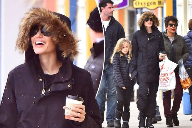 Happy Angelina Jolie and kids steps out to celebrate New year without Brad Pitt (Photos)