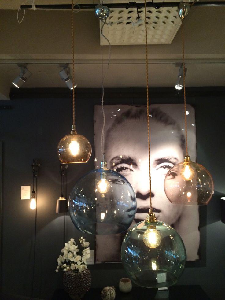 Lampor från DIS, hänger i köksfönstret i vårt Älvsbyhus! Smokey Grey från Ebb & Flow