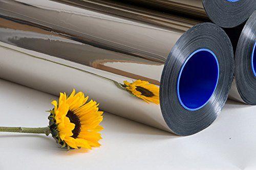Silver mylar reflective mirror foil sheeting sheet 10m for Miroir solaire parabolique