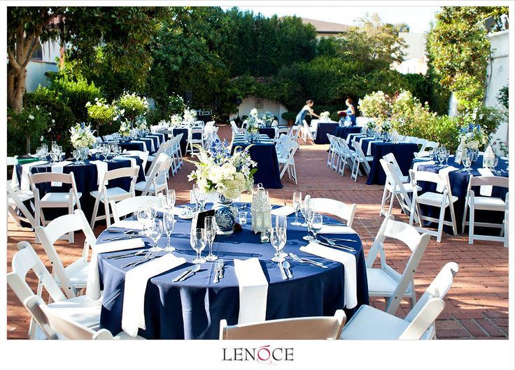 Navy blue white light green reception gen and ian for Wedding themes for september