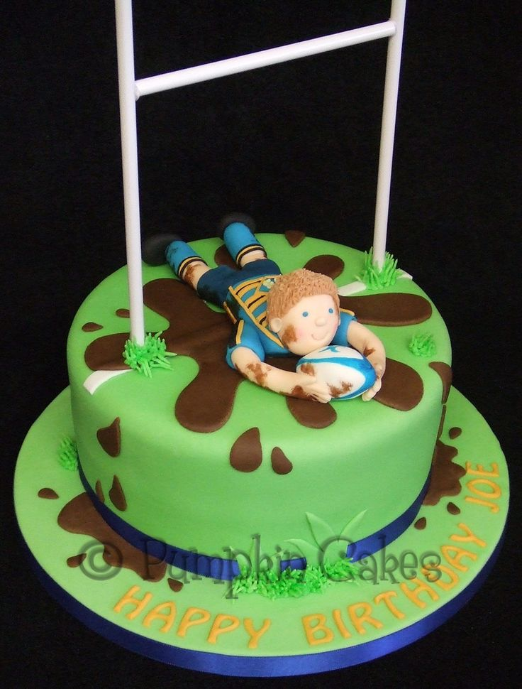 Yummy chocolate mud cake for a rugby player                                                                                                                                                      More