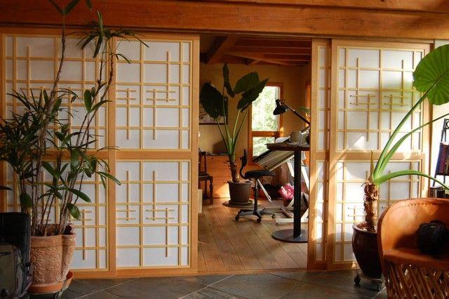 Shoji doors open.
