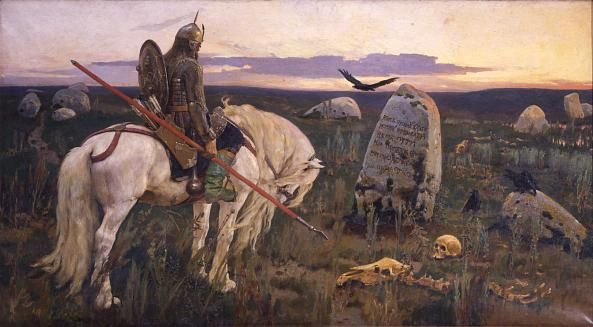 """If you go straight ahead, there will be no life; there is no way forward for he who travels past, walks past or flies past."" Knight at the Crossroads (1882) // Viktor Vasnetsov // Oil on canvas// The State Russian museum"
