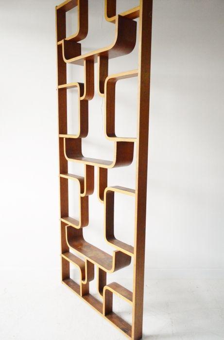Drevopodnik Holesav Plywood Room Divider Shelves Screen