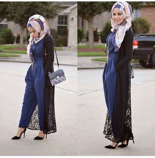 Hijab Fashion 2016/2017:  jumpsuit  Hijab Fashion 2016/2017: Sélection de looks tendances spécial voilées Look Descreption  jumpsuit
