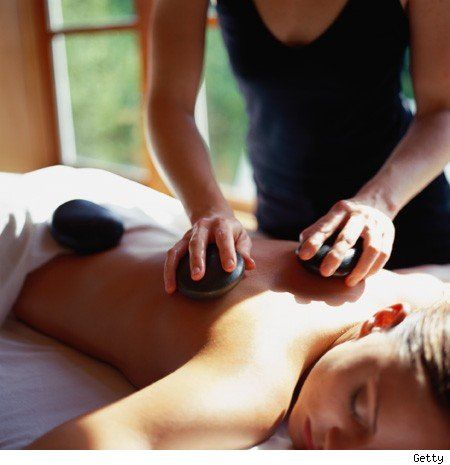 Hot stone massage therapy -- my favorite to give and to receive!
