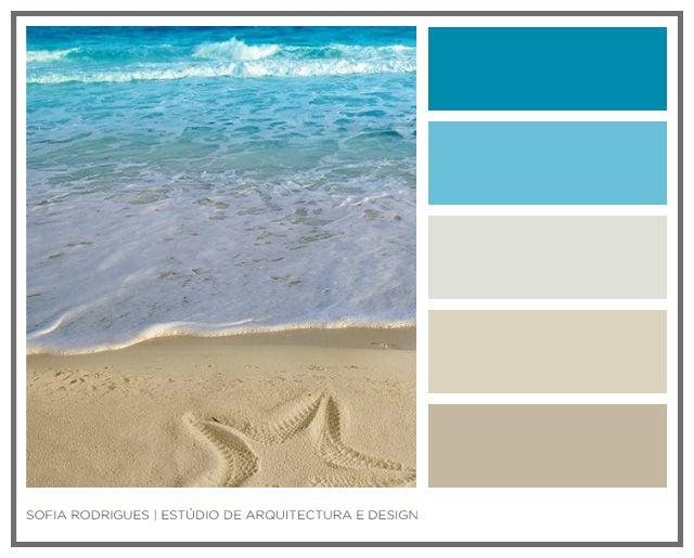 Paleta de Cores . Tons de Praia