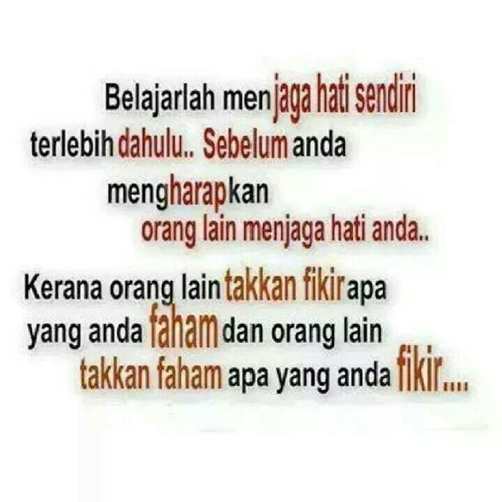 Jaga hati...