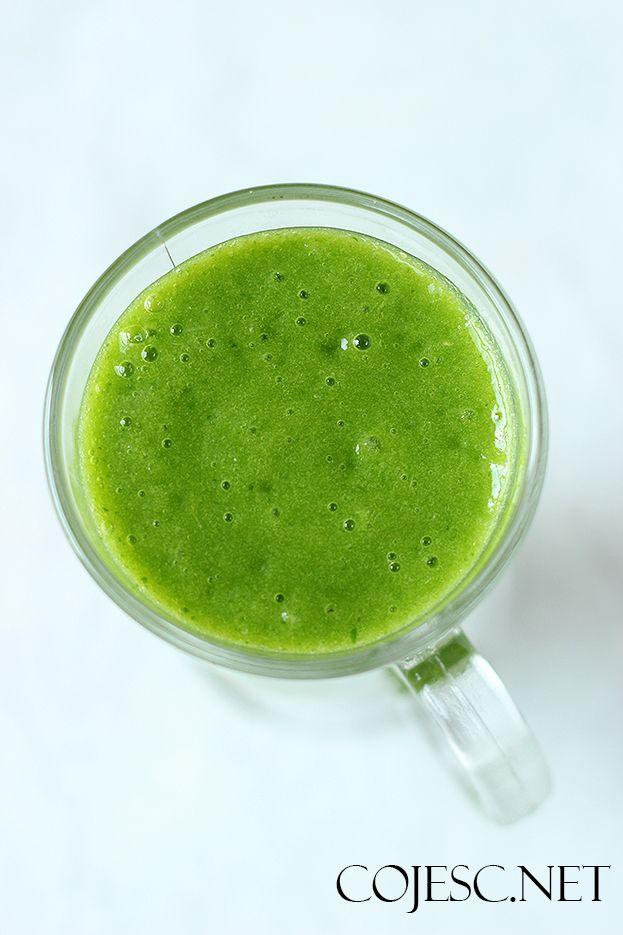 Zielony koktajl z mango | Zdrowe Przepisy Pauliny Styś