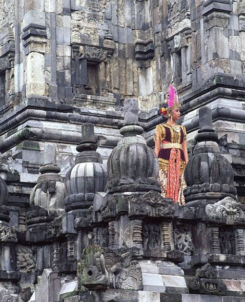 Javanese dancer, Prambanam ruins, central Java, Indonesia