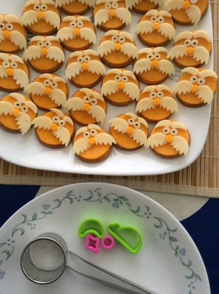 Lorax Cheese and Crackers and Marshmallow Truffula Trees