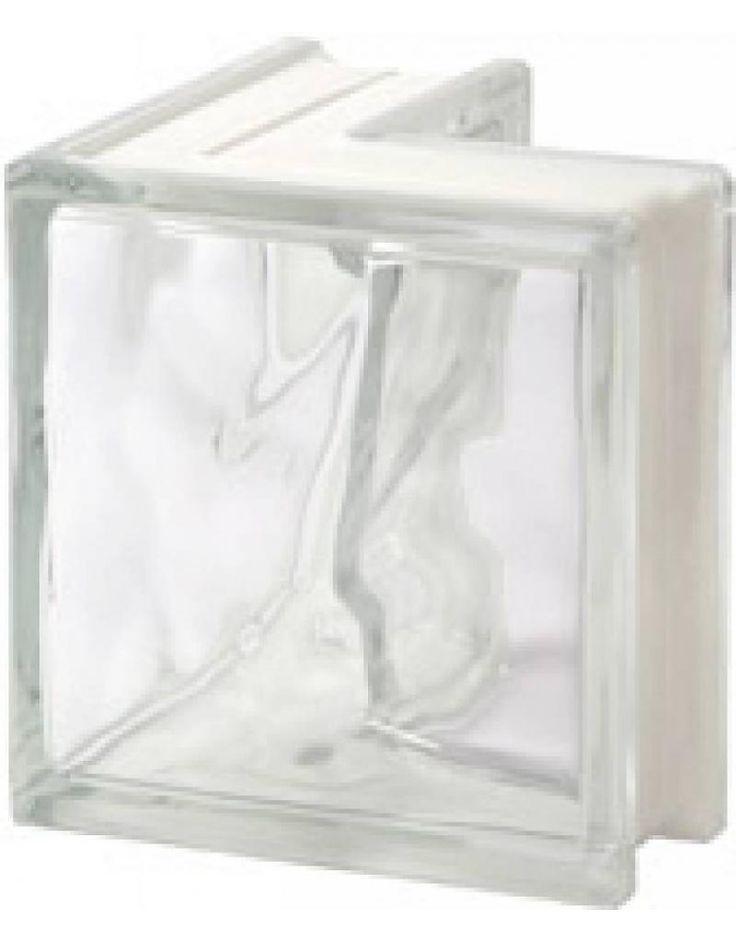 190x190x80 Wolk Hoek 90gr. - Glazen bouwstenen | Glasblokken | Glasdallen | Glastegels