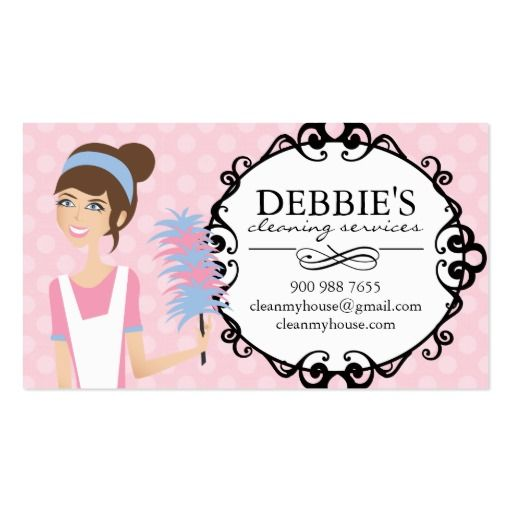business cards house cleaning examples