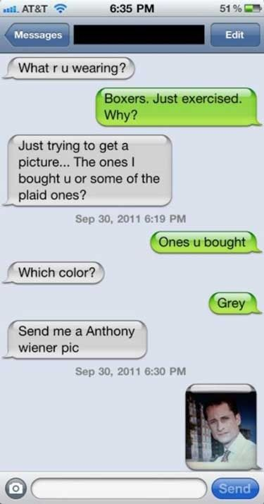 Are you super into sexting pics of Anthony Weiner? | Are You The Awkward One In The Relationship?