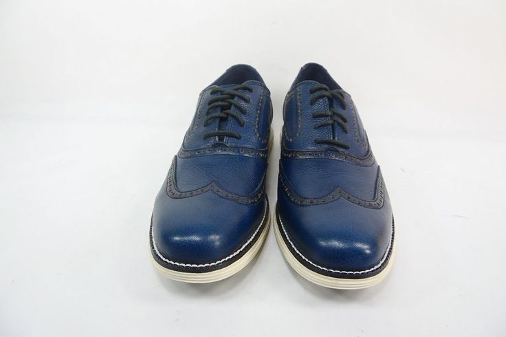 Cole Haan Outlet Men's Øriginalgrand Wingtip Oxford Marine Blue Size 8.5M #ColeHaan #Oxfords
