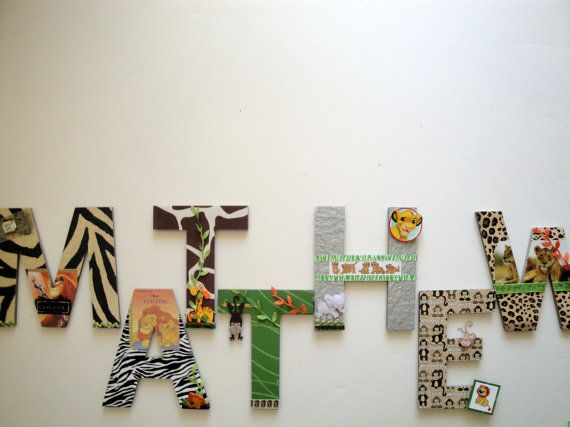 """Lion King Simba 8"""" 3D Custom  Lion Nursery Wall Letters Kids Jungle Room Decor Personalized Name Letters, Nursery Decor Baby Shower Gift on Etsy, $19.99"""