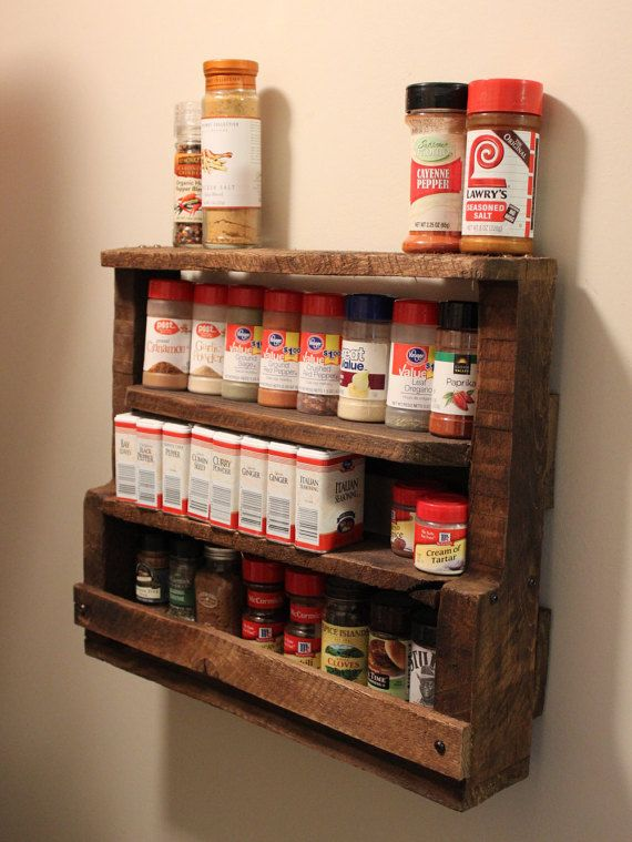 Rustic Pallet Spice Rack By Redemptiverustics On Etsy