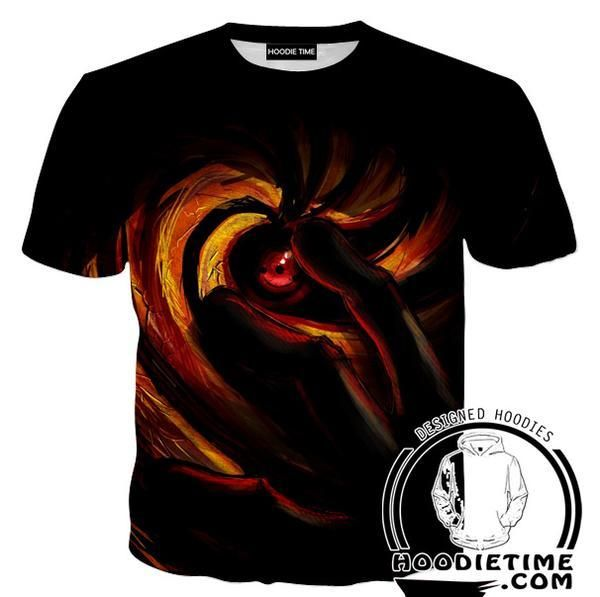 Tobi Obito Sharingan Eye Tank Top - Naruto Gym Shirts - Anime Clothing