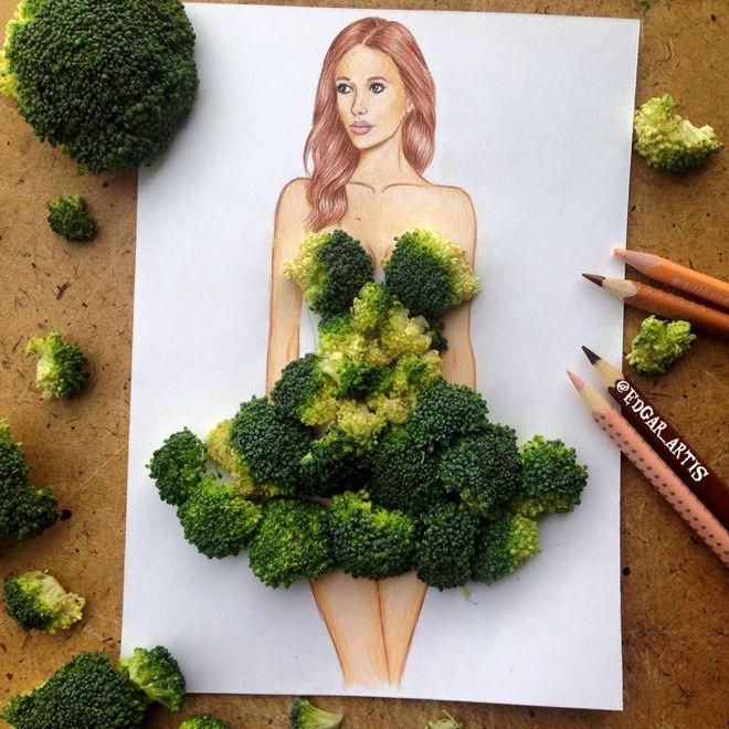 Vestido de brócolis