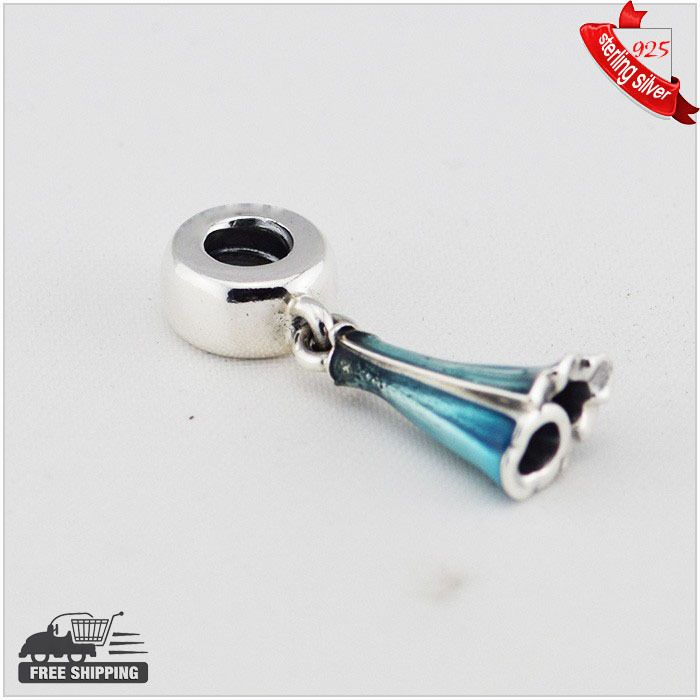 Find More Beads Information about 925 Sterling Silver Beads elsa dress silver dangle with blue enamel silver charms for women Fits for Pandora Bracelets,High Quality Beads from silver chinese on Aliexpress.com