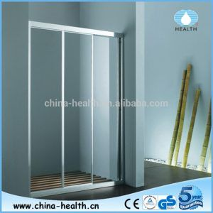 Three Panel Sliding Glass Shower Doors