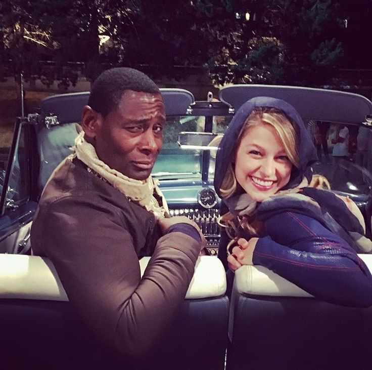 David Harewood and Melissa Benoist