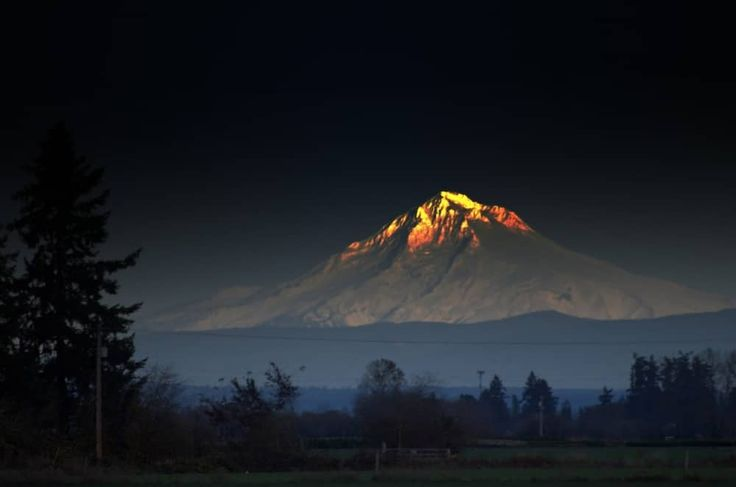 Une montagne éclatante