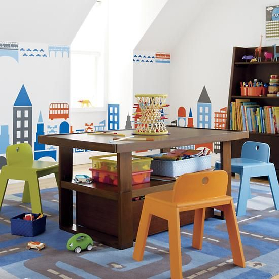 Superior The Land Of Nod | Kidsu0027 Play Tables: Kids Chocolate Colored Adjustable Mojo  Play