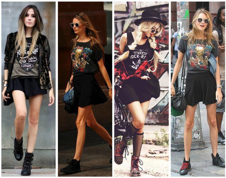 Formas de tener un look diferente todos los días con tus camisetas de rock favoritas