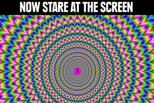 Stare at your screen for 10 seconds then look at a wall or the back of your hand and watch what happens!