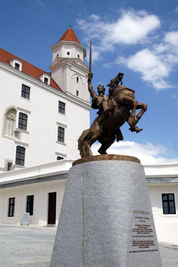 King Svätopluk on Bratislava castle