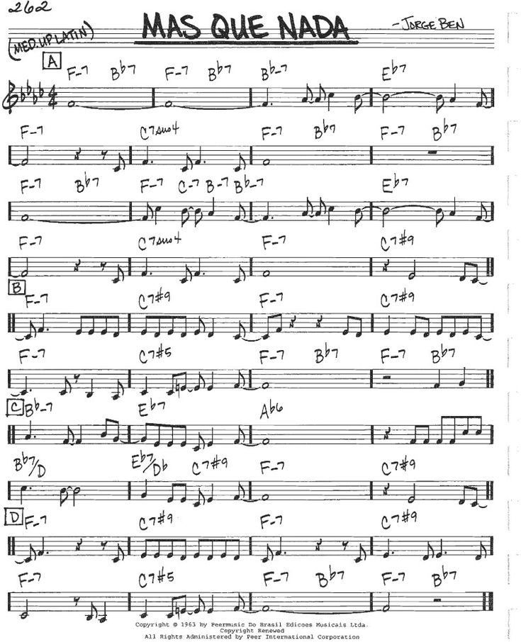 Besame Mucho Lyrics Sheet Music: Mas-que-nada-score-guitar