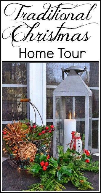 Traditional Christmas Decorating Ideas and Home Tour.  Loads of ideas for nearly every room.