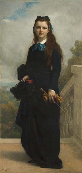 Portrait of Miss Cornelia Lyman Warren (Alexandre Cabanel - 1871) Davis Museum  Cultural Center - Wellesley, Massachusetts